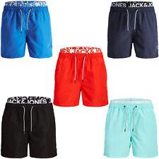 Jack & Jones Swim Shorts Mens Double Waistband Drawstring Boxer Swimwear Trunks