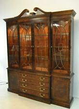 Mahogany Chippendale Breakfront China Cabinet by Henredon, Aston Court 1988