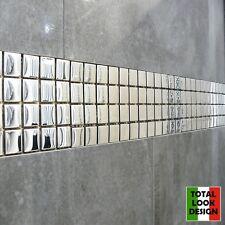 Mirror Gloss Silver Glass Mosaic Tiles 30cm X 30cm Sheet Walls Floors