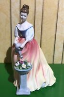 ROYAL DOULTON LADY ALEXANDRA MODEL No. HN 3286 PERFECT PINK & YELLOW DRESS