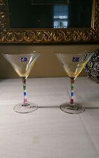 Ranbowl Luminarc martini Glass with stickers
