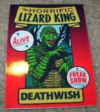 DEATHWISH Skateboards Sticker Freak Show LIZARD KING skate helmets decal