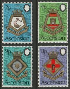 ASCENSION mint 1973 Royal Naval crests set sg166-169 MNH