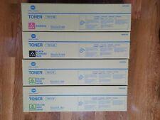 4 New Genuine Konica Minolta Toners 1Magenta 2YELLOW 1BLK. TN711M TN711Y TN711K