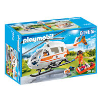 Playmobil City Life Rescue Helicopter Building Set 70048 NEW IN STOCK