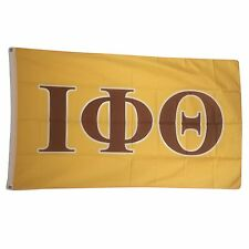 Iota Phi Theta Yellow Background Letter Flag 3' x 5' - Licensed Product