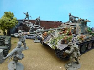 Conte Collectiables+54mm WW2 Angled wall diorama/ tank+15 figs+3 acc1999 Preoop