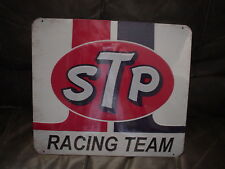 LARGE Embossed STP Racing Team Sign Garage Truck Car Vintage Style  Nascar