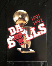1991-1992 Chicago Bulls Basketball Pocket Schedule Card Da Bulls Michael Jordan