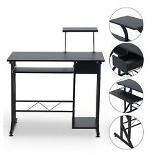 Compact Computer Desk With Keyboard Shelf Laptop Table Home Office Workstation