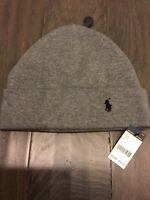 Polo Ralph Lauren P Bear Beanie Cap Winter Hat Gray Limited New NWT ... 20e3fc7c9d92