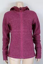 PRANA Drea Jacket Hooded Fleece Grapevine Magenta, Size Small S