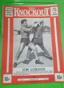 """The Knockout"" Boxing Program: 1943. Jim Londos, Billy Vargo, Chalky Wright."