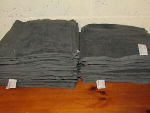 46 New JOHN LEWIS Soft Cotton Face Cloths Flannels 30x30cm - Grey Clearance