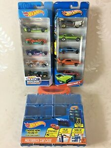 HOT WHEELS Bundle NEW IN PACK Track Builder System Muscle Mania 5 & Car Case