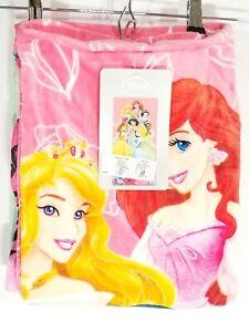 Disney Princesses Pink Beach Towel 30 x 60 100% Cotton Disney Store NWT