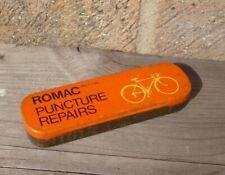 VINTAGE CYCLE ROMAC CROYDON SURREY PUNCTURE REPAIR KIT TIN CURE-C-CURE PATCHES