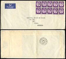 GB 1965 WILDING BLOCK FRANKING...FPO218 POSTMARK...ADEN GPO to AUSTRALIA AIRMAIL