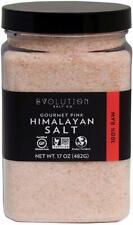 Fine Grind Gourmet Pink Himalayan Salt, EVOLUTION SALT, 17 oz jar