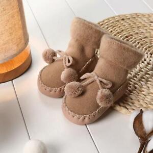 Winter Infant Baby Girl Boy Toddler Anti-slip Warm Slippers Socks Cotton Shoes