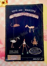 Vintage 40s Toy & Mascot Knitting Pattern Mouse Fawn Flamingo Clown and Islander