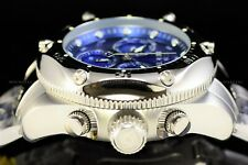 Invicta 55mm Pro Diver Master of the Ocean High Polished Chrome Blue Swiss Watch