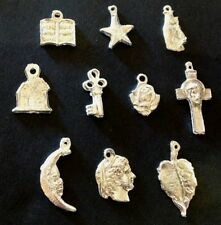"""Mexican Milagros Charms Silver Color Lot of 10 """"what you see is what you get""""04"""