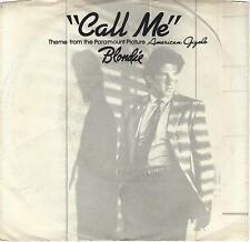 BLONDIE Call Me soundtrack 45 with PicSleeve  DEBBIE HARRY  Richard Gere sleeve
