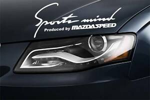 Sports Mind Produced by MAZDA SPEED 3 5 6 RX8 RX7 Decal sticker emblem logo WHIT