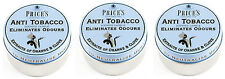 3x Price's Anti-Tobacco Candle in Tin - Eliminates Tobacco and Smoking Odour