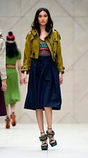 $2,395 Burberry Prorsum 8 10 42 Linen Cropped Jacket Coat Parka Women Gift ITALY