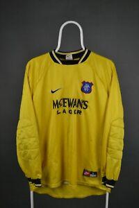 Vintage Glasgow Rangers FC Football Goalkeeper Shirt 1997-1998 (L) Nike Jersey