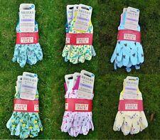 More details for ladies gardening gloves briers triple pack fleurette flowers bee posies medium