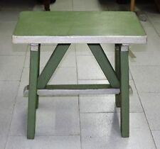 TAVOLINO VERDE IN PINO DIPINTO - H48 cm