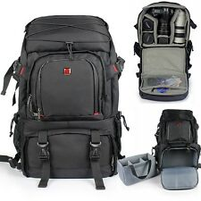 DSLR SLR Profession Camera Bag Multi Padded Case Travel Backpack For Canon Nikon