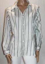Millers Brand White Striped Long Sleeve Shirt Top Size 22 BNWT #SX41