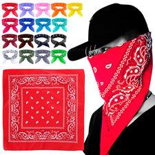 100%Cotton Paisley Headband Headwear Mask Bandana Neck Scarf Wrist Wrap Head Tie