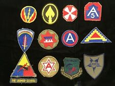 Collection of Vintage Military Uniform Patches