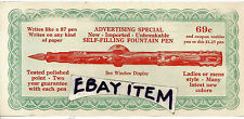 C1925 AD Ink FOUNTAIN PEN advertising coupon SPORS Writing Instrument PENMANSHIP