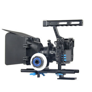 DSLR Camera Cams Video Cage Stabilizer+Follow Focus+Matte Box For Sony A7 A7R #1