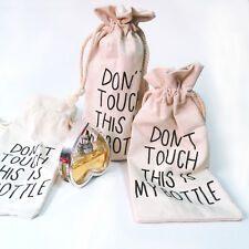 Popular 1Pc Beige Canvas Don't Touch This is My Bottle Holder Cover Portable BAG