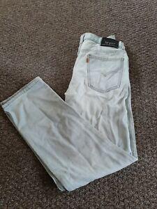 Jeans, Levi Strauss 605, Orange Tab, W31 L29 Grey, Zip Fly, Vintage
