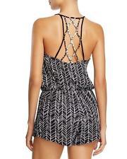 NWT NEW Dolce Vita Lattice Back Romper Swimsuit Cover Up Small $120 jn23