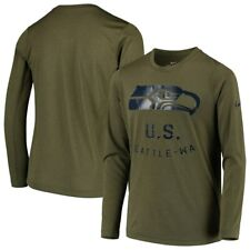 Seattle Seahawks Nike Dri-Fit Salute to Service Shirt Size Large