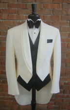 36 R Ivory Dimension Tail Full Dress Tails Shawl Lapel by Oscar De La Renta