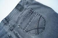 BRAX slim line Mary cult Damen stretch Jeans Hüft Hose Gr.40k grau stone wash