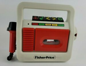 Vintage Fisher Price 1987 White Red 3808 Cassette Tape Recorder Player