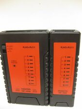 RJ11 - RJ45 CABLE TESTER INTERNET ETHERNET LAN A-DSL NETWORK TELEPPHONE CABLE
