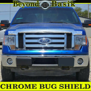 2009 2010 2011 2012 2013 2014 FORD F150 OE Style CHROME Bugshield Hood Deflector