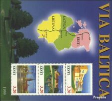 Estonia block8 (complete issue) unmounted mint / never hinged 1995 Via Baltica